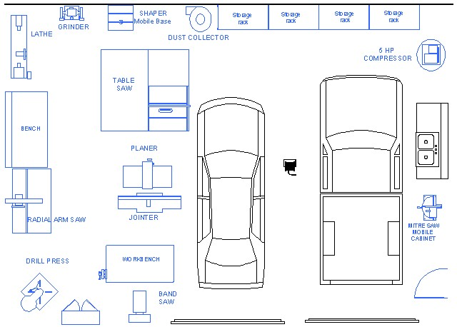 Innovative Garage Workshop Plans Layout  In The Studio  Pinterest